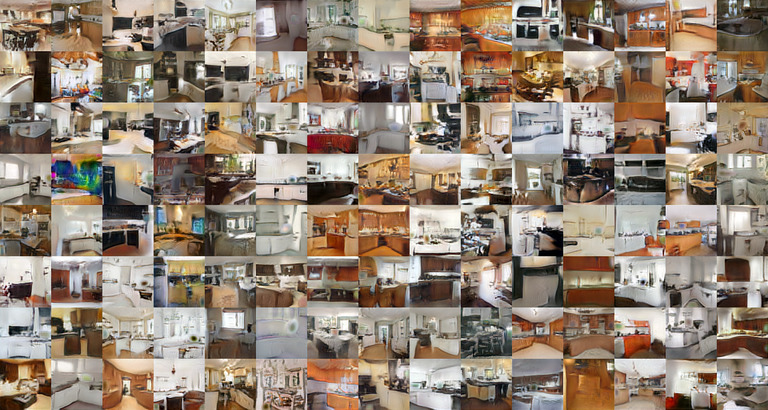 Grid of images of rooms, most of which look like kitchens at a quick glance